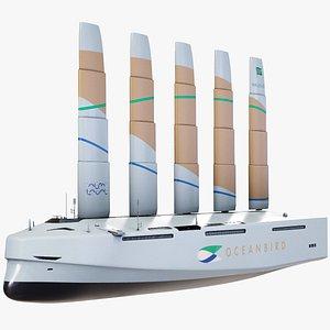 Oceanbird Futuristic Eco Container Ship PBR 3D model