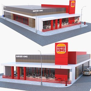 3D burger king restaurant
