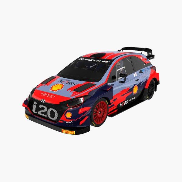 Hyundai I20 World Rally Car 2021 model