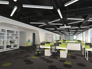 3D office interior open