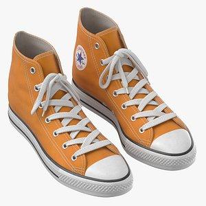 Basketball Leather Shoes Orange model