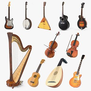3D stringed instruments 6