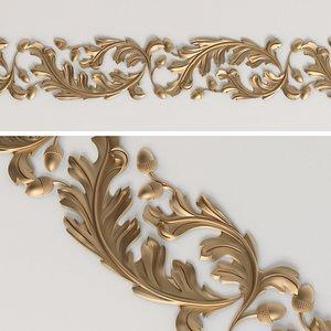 frieze oak leaf 3D model