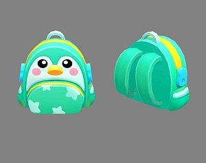 school bag children 3D model