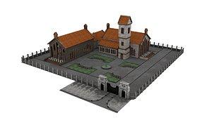 Fantasy Building 01 3D model