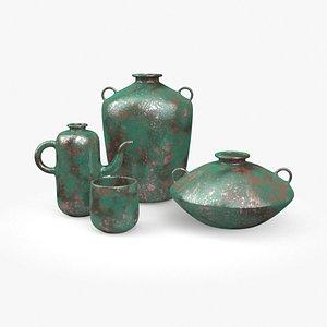 old vase green model