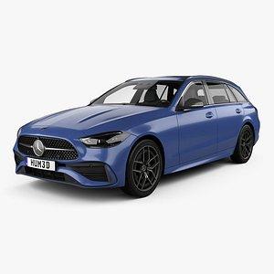 Mercedes-Benz C-class AMG-Line estate 2021 3D