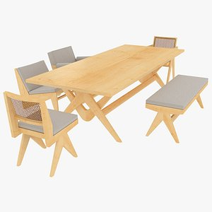 cassina table seating 3D model