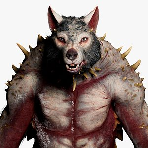 3D Werewolf RIGGED