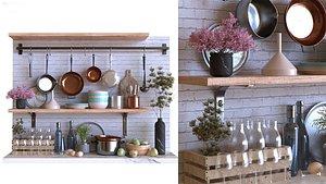 3D kitchen decor set 002