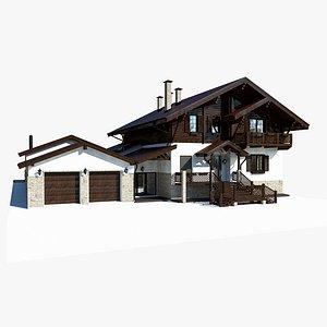 3D model Alpine Chalet House