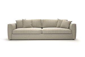 modern highly detailed cozy sofa model