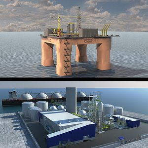 lng port rig 3D model