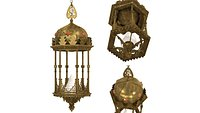 Middle Eastern Moorish Style Six-Sided Lantern