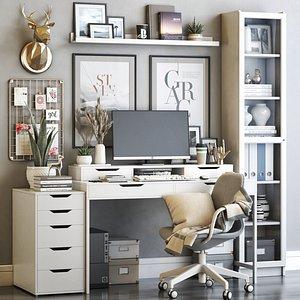 IKEA office workplace 63 3D model