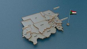3D sudan provinces state model