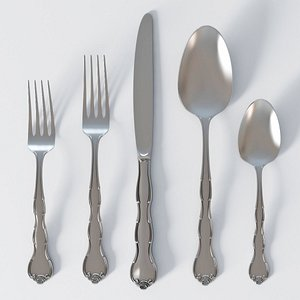 Cutlery Rondo Sterling 3D