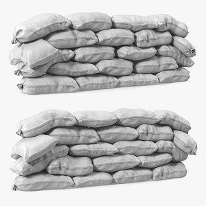 3D model Polypropylene Sandbag Barricade