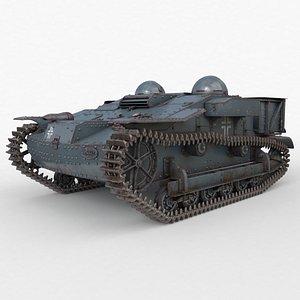 3D UE Tractor German Vray model