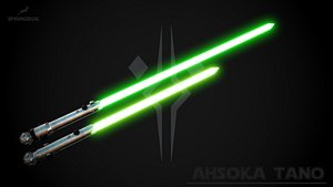 Ahsoka Tano Lightsabers 3D