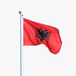 3D Animated Flag of Albania