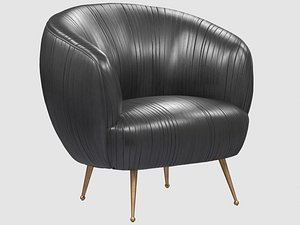 souffle chair ruched leather model