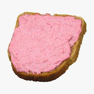3D toast caviar 01 raw