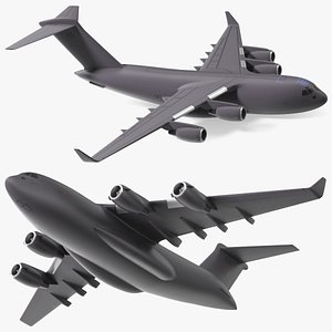 3D Military Transport Aircraft Scale Model model