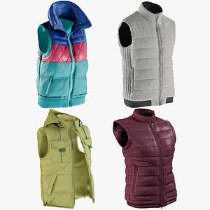 realistic vests collections model
