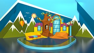 3D Child Tv Studio Competition Design
