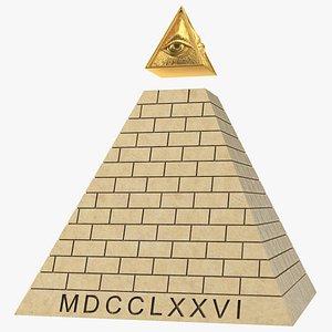 Illuminati Pyramid Stone model