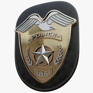 3D SWAT Police Badge Photorealistic PBR Low-poly 3D model model