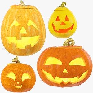 3D Halloween Pumpkins Family Collection V2 model