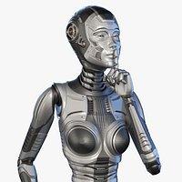 FUTURISTIC ROBOT WOMAN - Advanced Edition - RIGGED