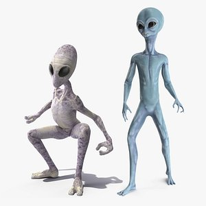 3D humanoid aliens rigged