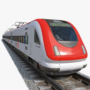 3D European high-speed modern train model