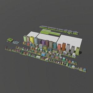 city pack 3D model