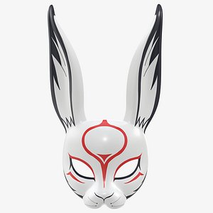 3D mask rabbit face model