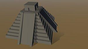aztec pyramid 3D model