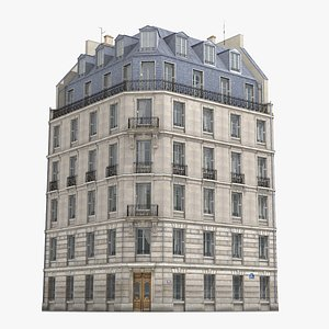 3D old paris building model