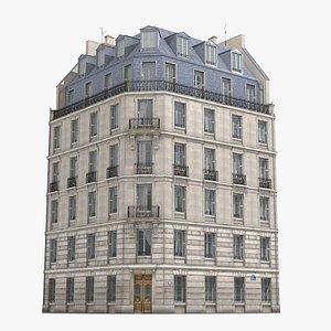3D old paris building model