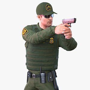 3D Border Officer model