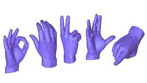 male hands model