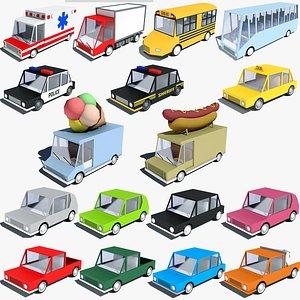 3D Cartoon Car Pack
