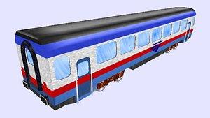 3D modern amtrak passenger wagon