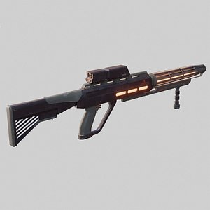 scifi gun 3D