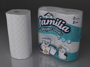paper familia toilet 3D model