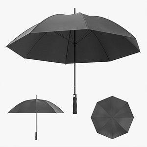 Large automatic umbrella black 3D model
