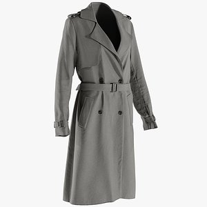 realistic women s coat 3D model