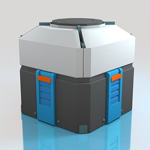 3D loot box crate overwatch model